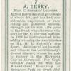 A. Berry, Mrs. C. Steven's colours.