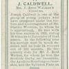 J. Caldwell, Mr. J. Reid Walker's colours.