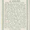 J. Childs, H.M. the King's colours.