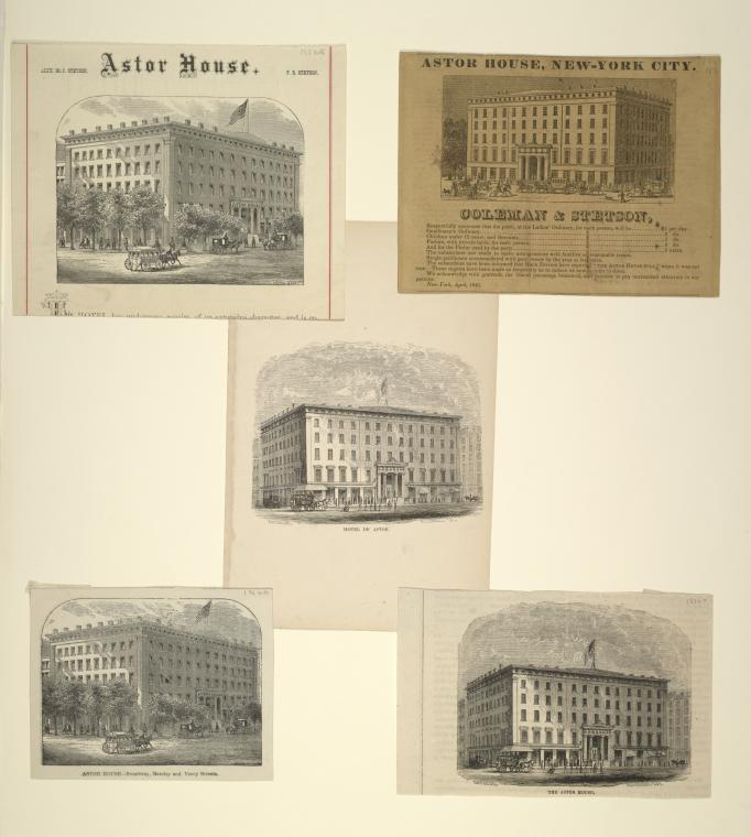 Five views of Astor House.