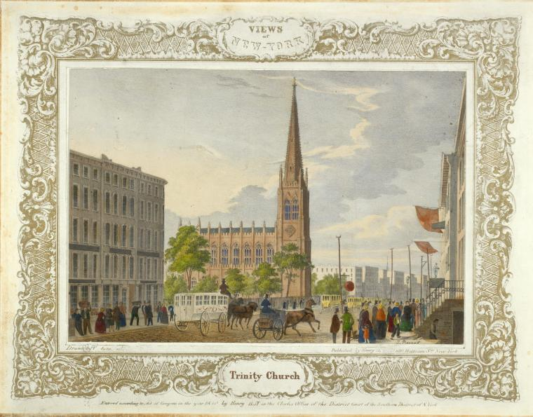 Fascinating Historical Picture of Trinity Church in 1850