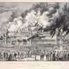 Burning of the New York Crystal Palace, on Tuesday Oct. 5th, 1858. During its occupation for the annual fair of the American Institute
