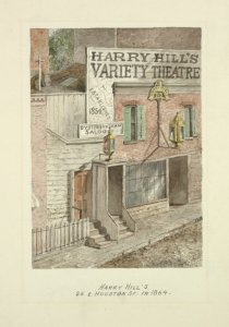 In pencil: Harry Hill's 26. E. Houston St. in 1864.