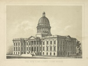 The New York County court house / lith. W. C. Rogers & Co. ; for Jos. Shanon's manual 1868.