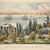 New York Bay, from Bay Ridge. Long Island. Bedloes Island, Jersey City, Hoboken, Castle Garden, Governor's Island