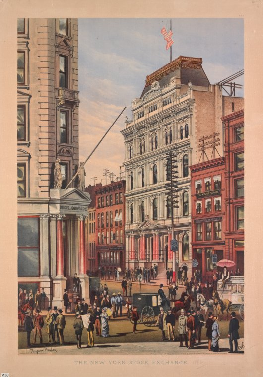 Fascinating Historical Picture of New York Stock Exchange -- 1800-1899 in 1882