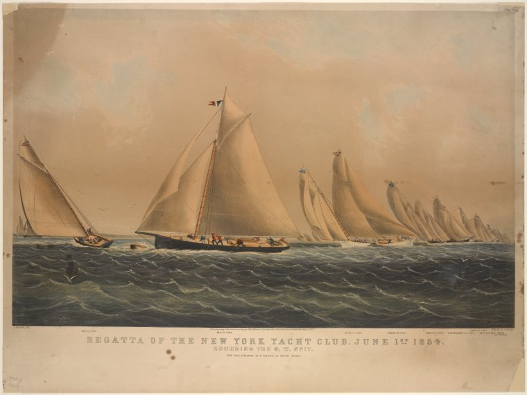 Fascinating Historical Picture of New York Yacht Club in 1854