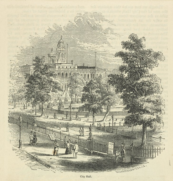 This is What City Hall (New York, N.Y.) Looked Like  in 1854