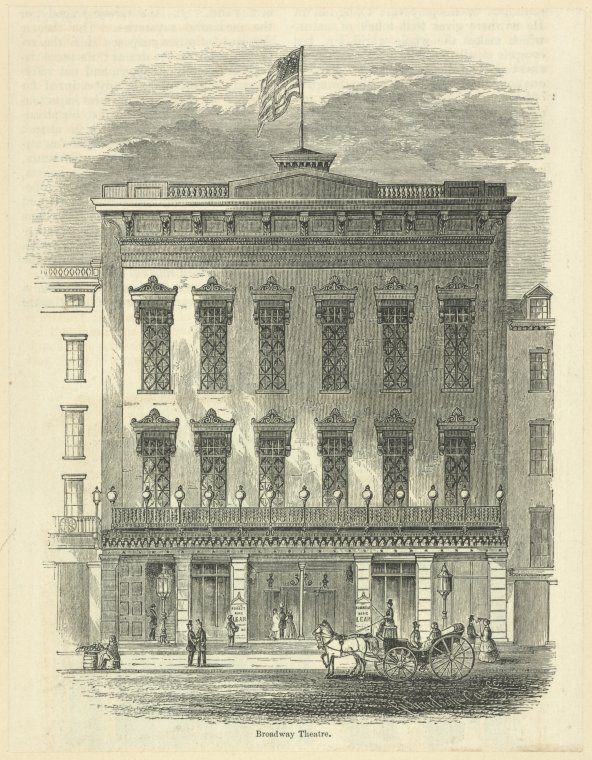 Fascinating Historical Picture of Broadway Theatre in 1854