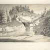 View of the cave facing the lake. From Central Park Album, 1862