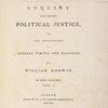 An enquiry concerning political justice, ... (Vol. 1, title page)