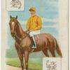 Jockey: E. Calder, Col: Duke of Devonshire.