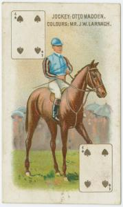 Jockey: Otto Madden, colours: Mr. J.W. Larnach.