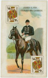 Jockey: C. Foy, colours: Mr. C. Hibbert.