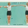 Exercises for women: arm flinging.