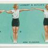 Exercises for women: arm flinging.