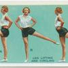 Exercises for women: leg lifting and circling.