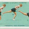 Exercises for women: horizontal half-standing.