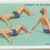 Exercises for men: back arching.