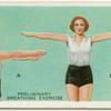 Exercises for women: preliminary breathing exercise.