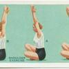 Exercises for women: shoulder exercise.
