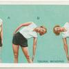 Exercises for women: trunk bending.