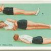 Exercises for women: body rolling.