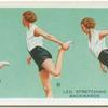 Exercises for women: leg stretching backwards.