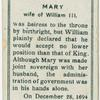 Mary wife of William III.