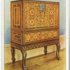 Inlaid rosewood cabinet on stand.
