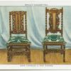 King Charles II oak chairs.