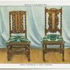 King Charles II oak chairs.