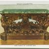 Side table of carved oak.