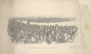 East view from the Singer Tower / Spofford, N.Y. 1909