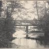 Two men standing on a footbridge in Cold Spring Harbor, L.I.]