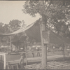 Picnic fair tent and benches, Port Washington, L.I.