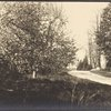 North Road, front of Jayne Hill, old house, apple blossoms, West Hills, L.I.