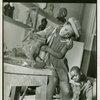 Harlem Community Art Center: V, Students in sculpture class, 290 Lenox Avenue, Manhattan.