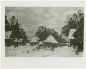 art exhibits   american art today   works of art   snow scene