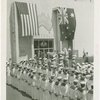 Australia Participation - Sailors at attention on Australia Day while L.R. MacGregor (Commissioner) speaks