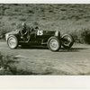 Automobiles - Grand Prix - Man driving Bugatti car