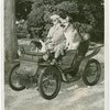 Automobiles - Ye Goode Olde Days - James Melton in 1998 De Dion Bouton car with two dogs