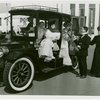 Automobiles - Ye Goode Olde Days - Group with 1909 Mercedes Town car