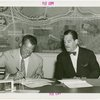 Ballantine - Carl W. Badenhausen and Grover Whalen signing contract