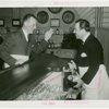 Ballantine - Grover Whalen pouring beer