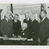 Beech-Nut Exhibit - Contract signing with Harvey Gibson and Bartlett Arkell