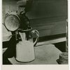 Borden - Cows - Milking - Pouring milk into pitcher
