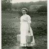 Borden - Cows - Milking - Woman carrying pails
