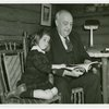Borden - Jeffers, Henry (Inventor of Rotolactor, President of Walker-Gordon) - Reading to granddaughter