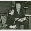 Borden - Jeffers, Henry (Inventor of Rotolactor, President of Walker-Gordon) - Reading to granddaughter
